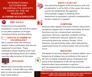 FB  AE Infographic - Autoimmune Encephalitis Handouts and Fact Sheets