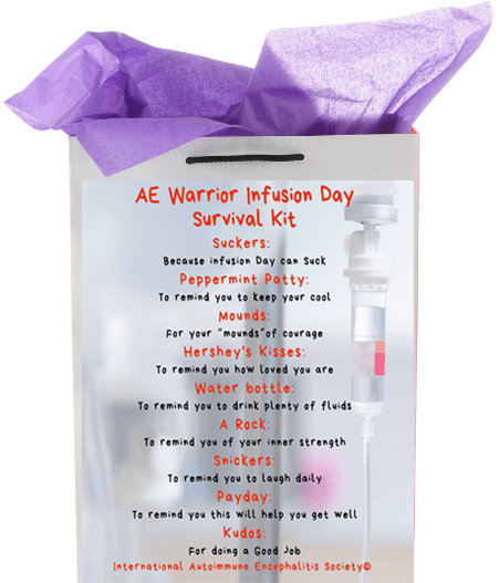 Survival Kit AE infusion - AE Awareness Month 2021