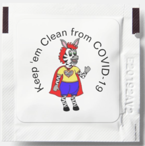Keep em clean from COVID 19 hand sanitizer packet - THE HERD January 2021~ 1st edition