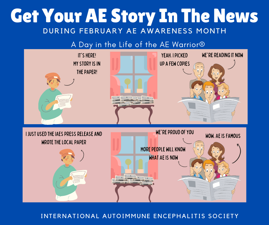 get your story in the paper Feb AE awareness 2 7 21 FB  - Memes About Autoimmune-Encephalitis
