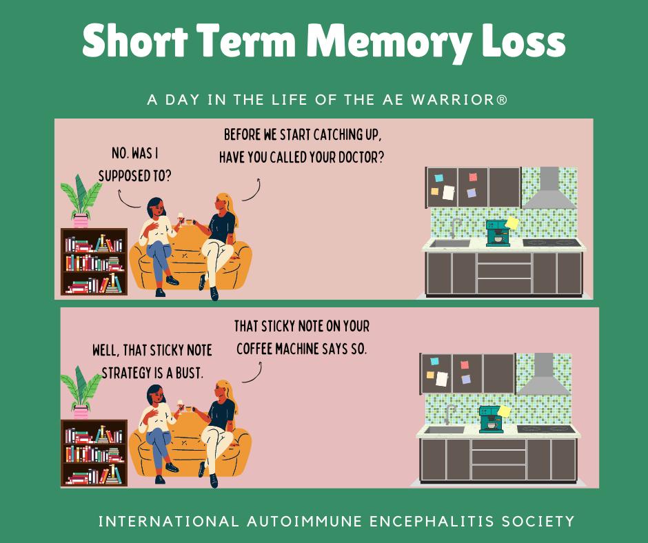 sticky note memory loss comic AE Warrior®2 14 2021 fb - Memes About Autoimmune-Encephalitis