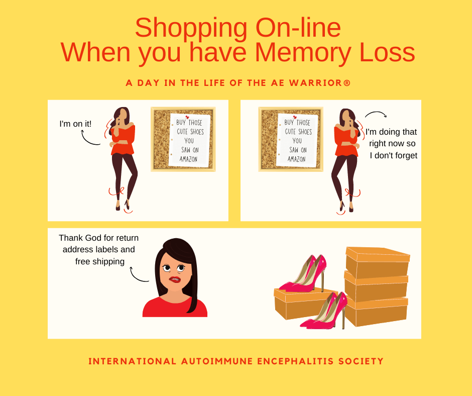 shopping on line A day in the Life of the AE Warrior® FB - Memes About Autoimmune-Encephalitis