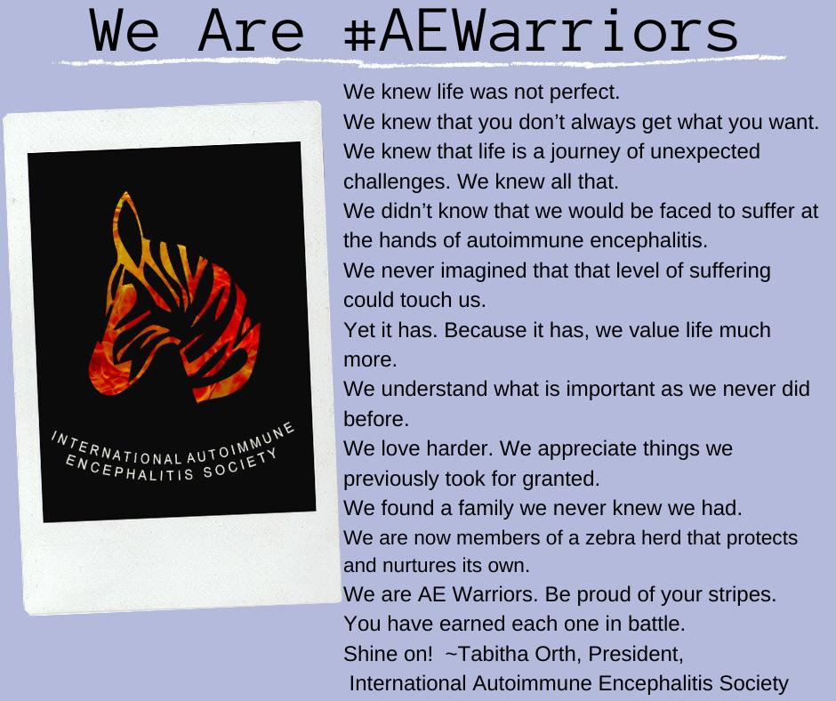 We are AEWarriors FB  Post - Memes About Autoimmune-Encephalitis