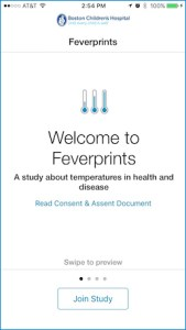 Feverprints screen
