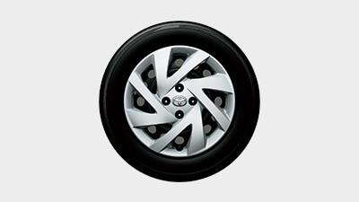 185/60R15タイヤ&15×5½Jスチールホイール & 樹脂フルキャップ