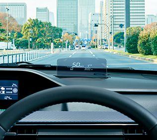 ワゴンRのメーカーオプション:ヘッドアップディスプレイ