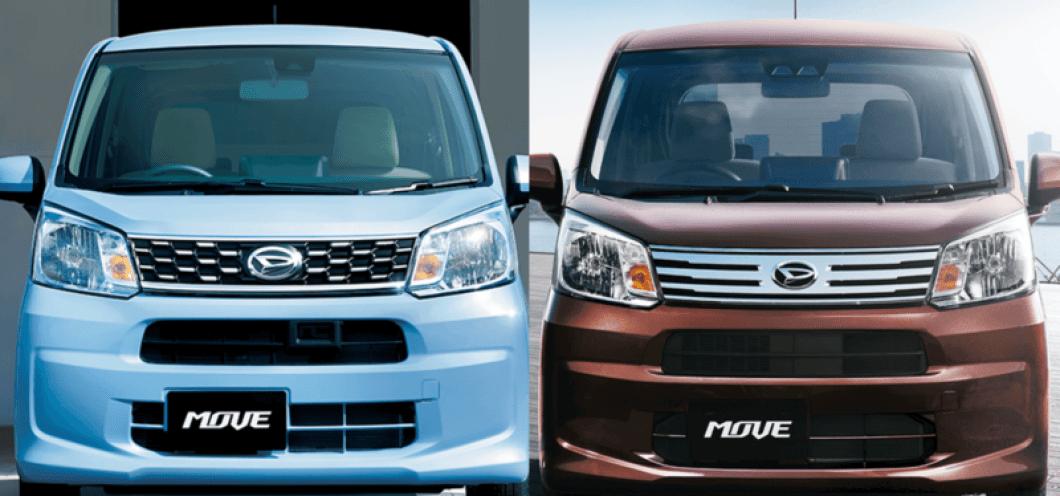 左が旧モデル、右がマイナーチェンジ後の新型