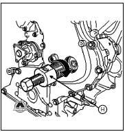 Tool to remove diesel fuel pump.
