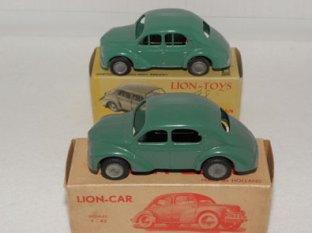 Lion Toys et Lion Car (observez les variantes de montants de vitre)