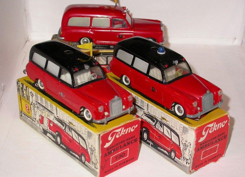 Ambulances Tekno A9 Copenhague (variantes fanions et gyrophares)