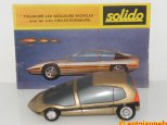 catalogue et maquette en bois signé Paul Bracq pour Solido