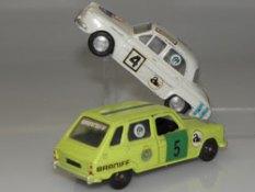 Buby Renault Dauphine IKA et Renault R6 compétition. peu fréquentes versions