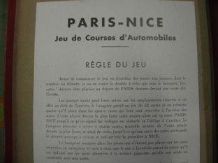 La règle du jeux du Coffret Paris Nice