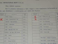 Le bon de commande original Buby signé Jacques Greilsamer