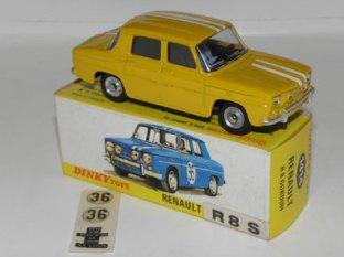 Dinky Toys Renault 8S jaune avec bande Gordini