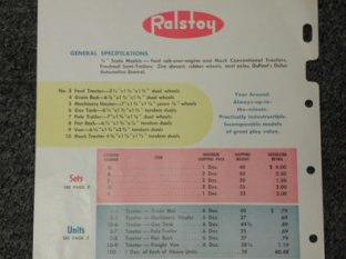 Catalogue Ralstoy