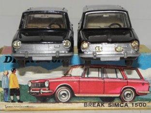 BDinky Toys Simca 1500 break essais de couleur