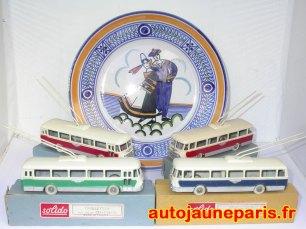 Solido Trolleybus et faïence de Georges Brisson
