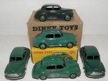 nuances de vert sur les Morris Oxford Dinky Toys