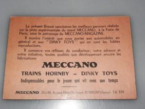 Dinky toys permis 1954