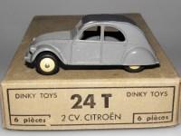 Dinky Toys citroën 2cv 1 feux gris moyen pavillon lisse