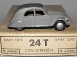 Dinky Toys citroën 2cv 1 feux avec jantes de couleur argent