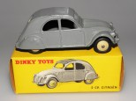 Dinky Toys Citroën 2cv couleur gris unicolore (capote non peinte)