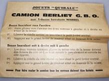 Quiralu Berliet tribenne avec sa notice