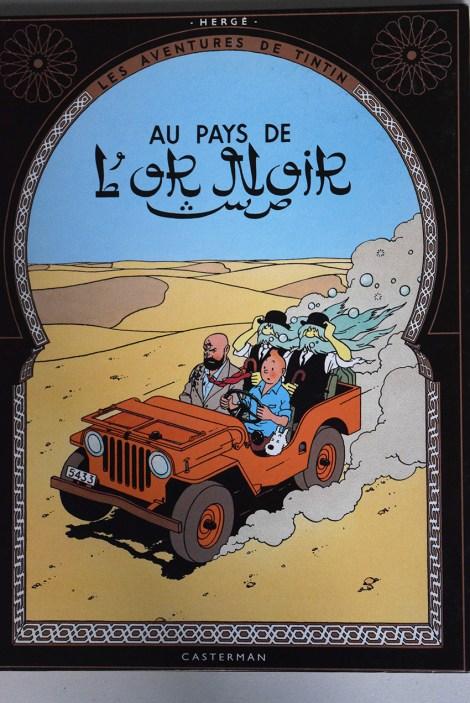 """Tintin """"Au pays de l'or noir"""""""