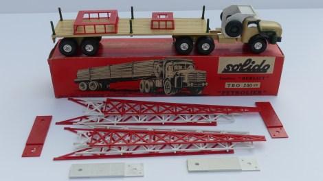Solido Berliet TBO semi remorque porte pipe line avec jantes en acier