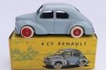 C-I-J Renault 4cv calandre 3 barres jantes en plastique de couleur rouge nuance de gris avec châssis riveté