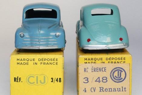 C-I-J Renault 4cv calandre 3 barres