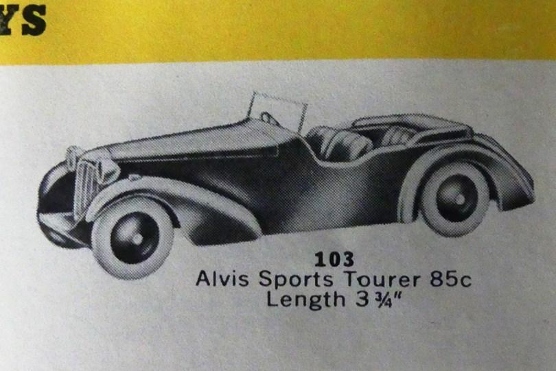 Dinky Toys 38 D Alvis sport