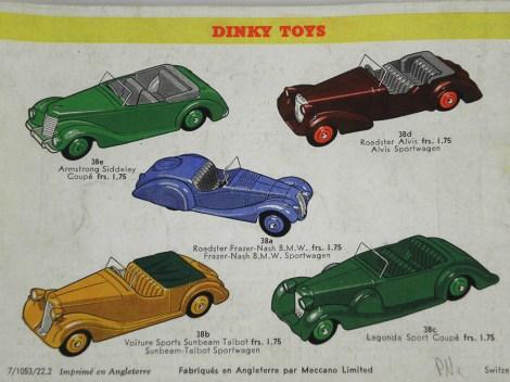 Catalogue Dinky-toys 1953-54 pour le marché suisse