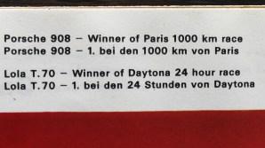 Solido catalogue Porsche 908 vainqueur des 1000Km de Paris