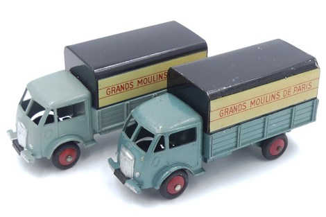 "Dinky Toys Ford ridelles bâché ""Grands Moulins de Paris"" pré-série type 1 et la version du commerce"