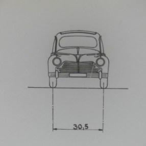 Dinky Toys plan de la Peugeot 203