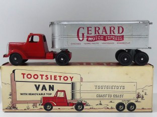 "Tootsietoys Mack""L"" semi remorque remorque tôle""Gerard"""