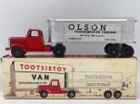 "Tootsietoys Mack""L"" semi remorque remorque tôlé ""Olson"""