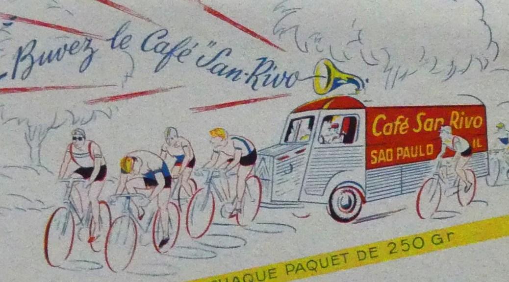 """Buvard représentant le Citroën 1200Kgs """"Café San Rivo"""""""