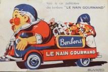 "Buvard représentant le Renault ""Le Nain Gourmand"""