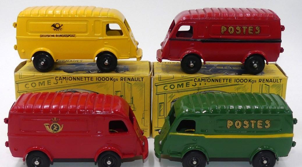 Les 4 versions postale connues à ce jour du C-I-J Renault 1000Ks