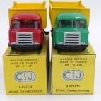 C-I-J Saviem JM240 calandre à 3 barres benne charbonnière