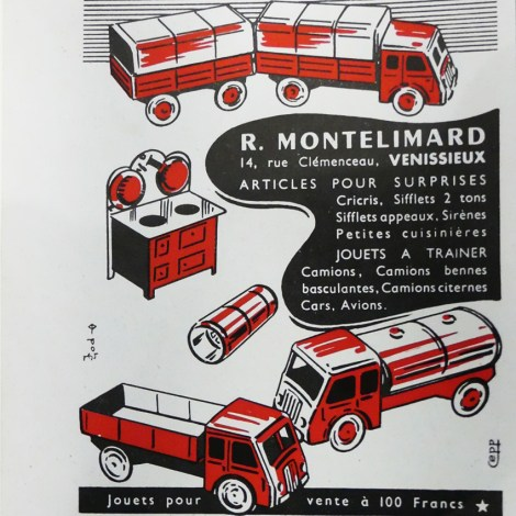 Polichinelle affichette avec Renault ATD