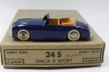 Dinky Toys Simca 8 sport (pare brise épais) couleur rare