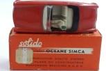 Solido Simca Océane avec boîte portant l'étiquette du magasin Le Printemps