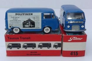 """Tekno Ford Taunus fourgon""""Politiken"""" variantes de jantes"""