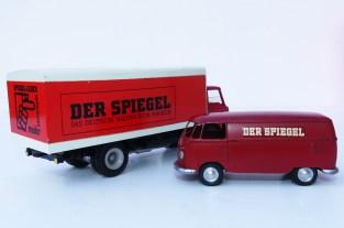 """Tekno Ford D800 et Märklin Volkswagen fourgon """"Der Spiegel"""""""