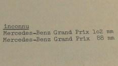 """Ma Collection texte présentant les """"Mercedes"""" en """"plâtre farine"""""""