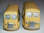 Dinky Toys prototypes Peugeot D3A ambulance en bois au 1/43 et au 1/50